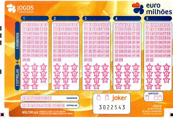 EuroMillions Portuguese ticket