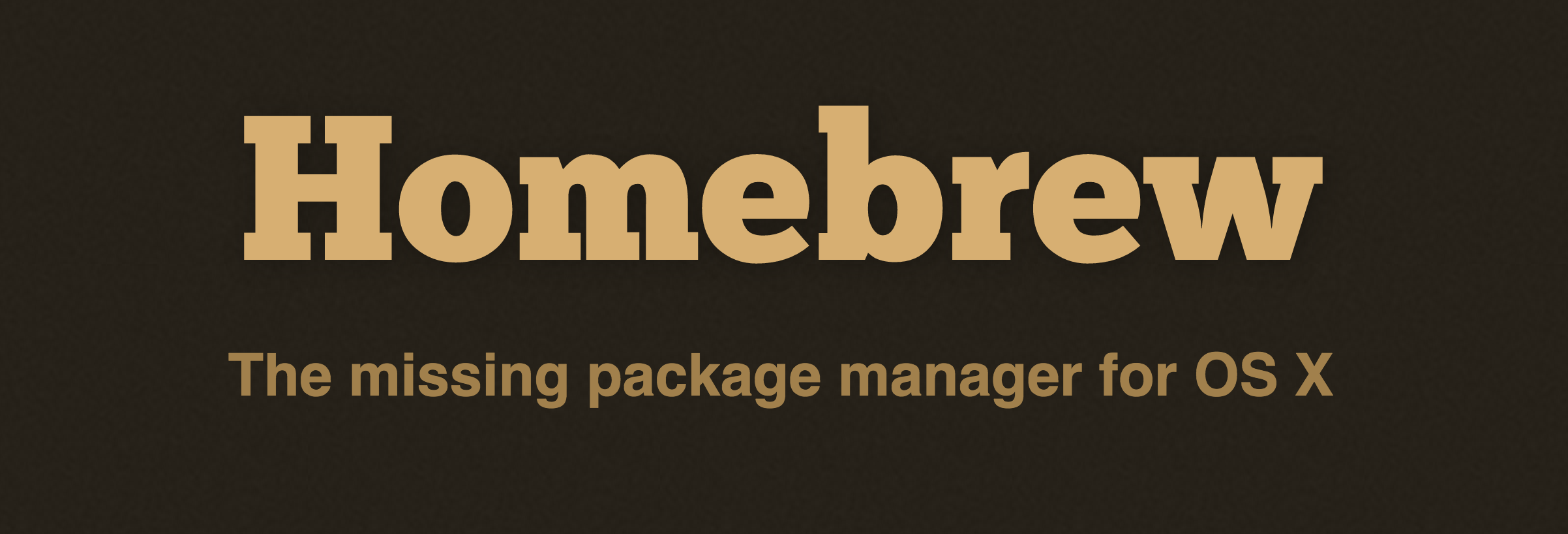 Homebrew package manager logo