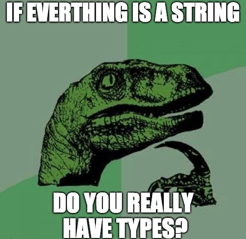 Everything is a String meme